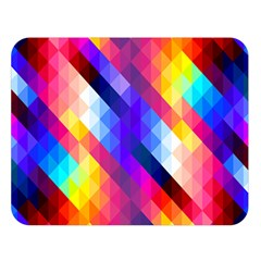 Abstract Background Colorful Pattern Double Sided Flano Blanket (large)