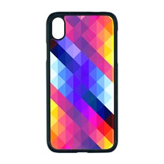 Abstract Background Colorful Pattern Apple Iphone Xr Seamless Case (black)