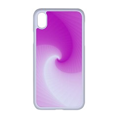 Abstract Spiral Pattern Background Apple Iphone Xr Seamless Case (white)