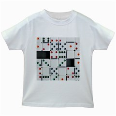 Woah, Domino Kids White T-shirts by WensdaiAmbrose