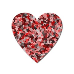 Black Red  Heart Magnet by artifiart
