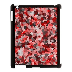 Black Red  Apple Ipad 3/4 Case (black) by artifiart