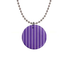 Nice Stripes In Royal Purple 1  Button Necklace by TimelessFashion