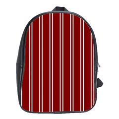Nice Stripes In Maroon Red School Bag (large) by TimelessFashion