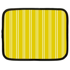 Nice Stripes In Corn Yellow  Netbook Case (large)