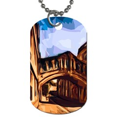 Street Architecture Building Dog Tag (one Side)