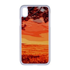 Field Sunset Orange Sky Land Apple Iphone Xr Seamless Case (white)