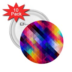 Abstract Background Colorful Pattern 2 25  Buttons (10 Pack)