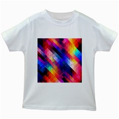 Abstract Background Colorful Pattern Kids White T Shirts