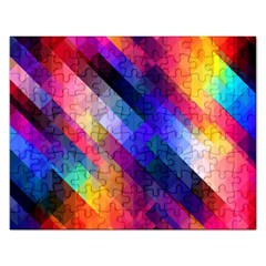 Abstract Background Colorful Pattern Rectangular Jigsaw Puzzl