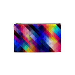 Abstract Background Colorful Pattern Cosmetic Bag (small)