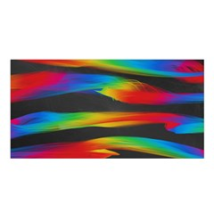 Colorful Background Satin Shawl