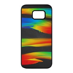 Colorful Background Samsung Galaxy S7 Edge Black Seamless Case by Pakrebo