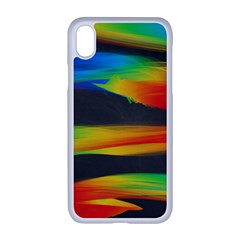 Colorful Background Apple Iphone Xr Seamless Case (white)