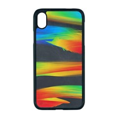 Colorful Background Apple Iphone Xr Seamless Case (black)