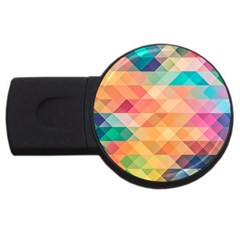 Texture Background Squares Tile Usb Flash Drive Round (2 Gb)