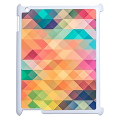 Texture Background Squares Tile Apple Ipad 2 Case (white)
