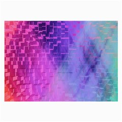 Texture Cell Cubes Blast Color Large Glasses Cloth
