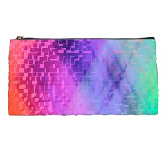 Texture Cell Cubes Blast Color Pencil Cases