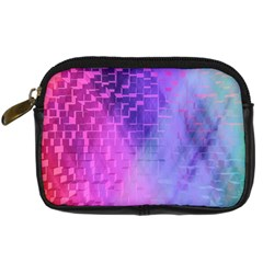 Texture Cell Cubes Blast Color Digital Camera Leather Case