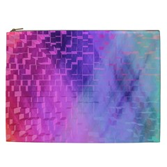 Texture Cell Cubes Blast Color Cosmetic Bag (xxl) by Pakrebo