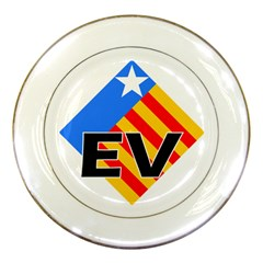 Logo Of Valencian Left Political Party Porcelain Plates by abbeyz71