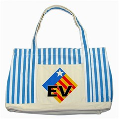 Logo Of Valencian Left Political Party Striped Blue Tote Bag by abbeyz71