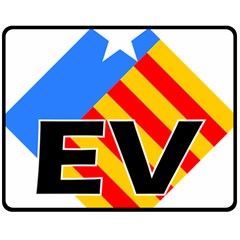 Logo Of Valencian Left Political Party Fleece Blanket (medium)  by abbeyz71