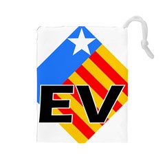 Logo Of Valencian Left Political Party Drawstring Pouch (large) by abbeyz71