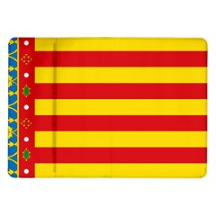 Flag Of Valencia  Samsung Galaxy Tab 10 1  P7500 Flip Case by abbeyz71