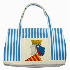 Community Of Valencia Coat Of Arms Striped Blue Tote Bag by abbeyz71