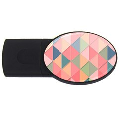 Background Geometric Triangle Usb Flash Drive Oval (4 Gb)