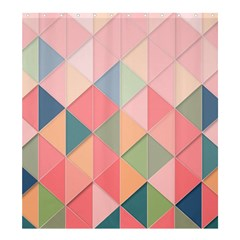 Background Geometric Triangle Shower Curtain 66  X 72  (large)