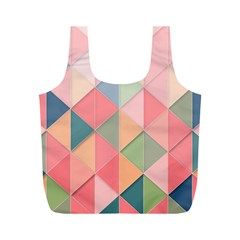 Background Geometric Triangle Full Print Recycle Bag (m)
