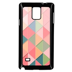 Background Geometric Triangle Samsung Galaxy Note 4 Case (black)