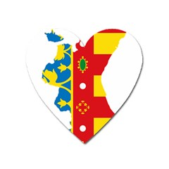 Flag Map Of Valencia Heart Magnet by abbeyz71