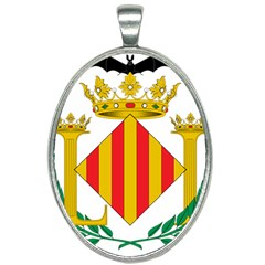 City Of Valencia Coat Of Arms Oval Necklace