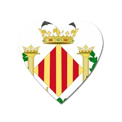 City Of Valencia Coat Of Arms Heart Magnet by abbeyz71