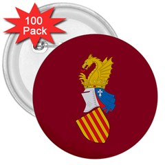 Emblem Of The Generalitat Valenciana 3  Buttons (100 Pack)  by abbeyz71