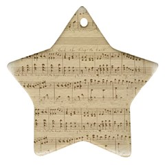 Vintage Beige Music Notes Ornament (star)