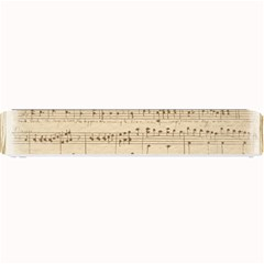 Vintage Beige Music Notes Small Bar Mats by Pakrebo