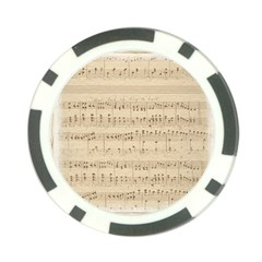 Vintage Beige Music Notes Poker Chip Card Guard (10 Pack)