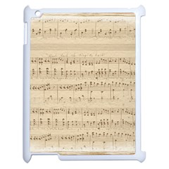 Vintage Beige Music Notes Apple Ipad 2 Case (white) by Pakrebo