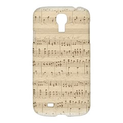 Vintage Beige Music Notes Samsung Galaxy S4 I9500/i9505 Hardshell Case
