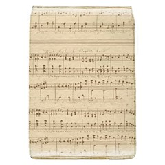 Vintage Beige Music Notes Removable Flap Cover (l)
