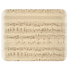 Vintage Beige Music Notes Double Sided Flano Blanket (medium)  by Pakrebo