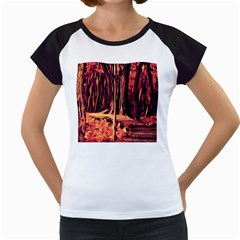 Forest Autumn Trees Trail Road Women s Cap Sleeve T by Pakrebo