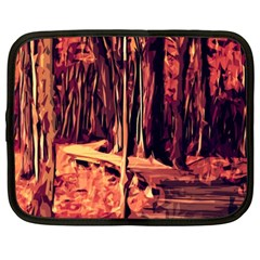 Forest Autumn Trees Trail Road Netbook Case (xxl) by Pakrebo