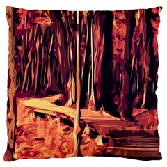 Forest Autumn Trees Trail Road Large Cushion Case (two Sides)