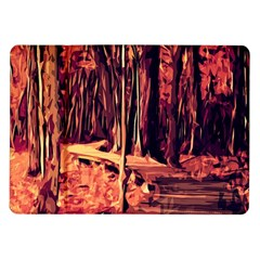 Forest Autumn Trees Trail Road Samsung Galaxy Tab 10 1  P7500 Flip Case